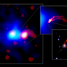 SRT first scientific result: a super massive and supersonic black hole