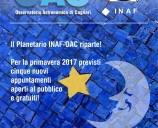Ecco le nuove date del Planetario INAF-OAC per il 2017!