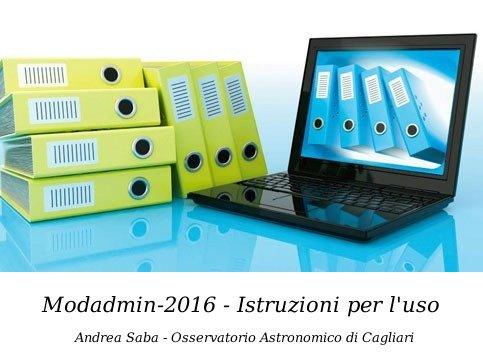 Modadmin2016 - istruzioni per l'uso