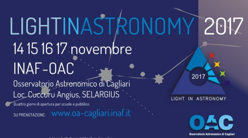LIGHT IN ASTRONOMY 2017: porte aperte all'OAC dal 14 al 17 novembre