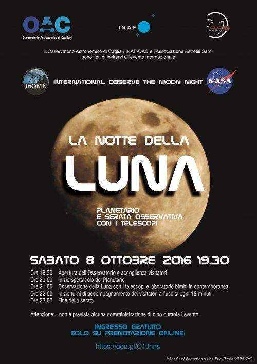 La Notte della Luna: 8 ottobre 2016 Serata gratuita da OAC!