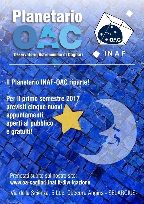 Planetario INAF-OAC, si riparte!